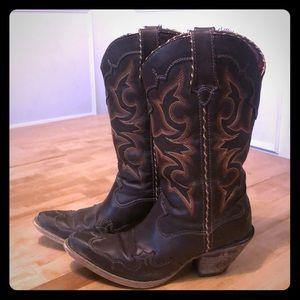 "Durango 12"" brown/tan boots.  USA women's size 6"